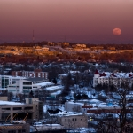 Full Moonrise over Waukesha @ Waukesha WI